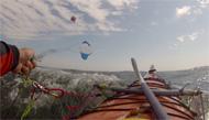 Kayak  tracté  par  Cerf-Voilant
